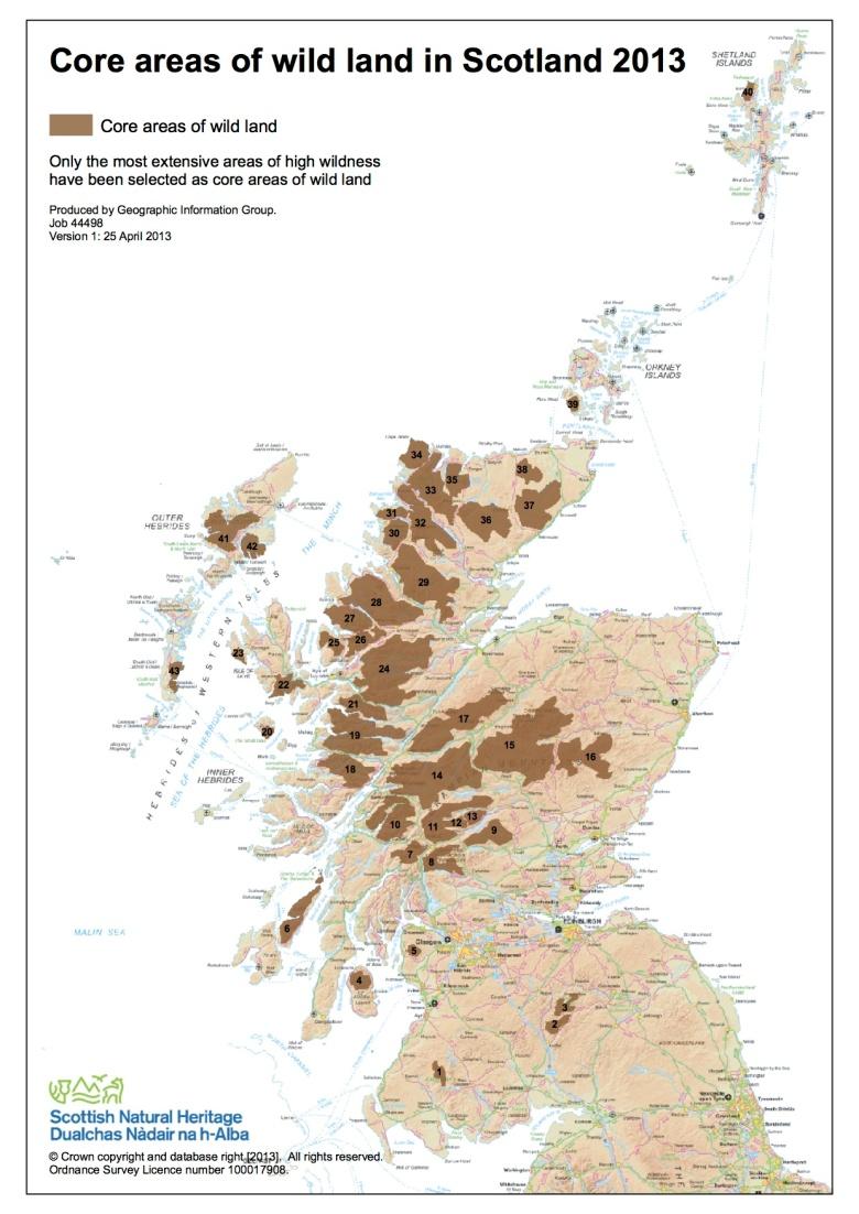 Wild land map