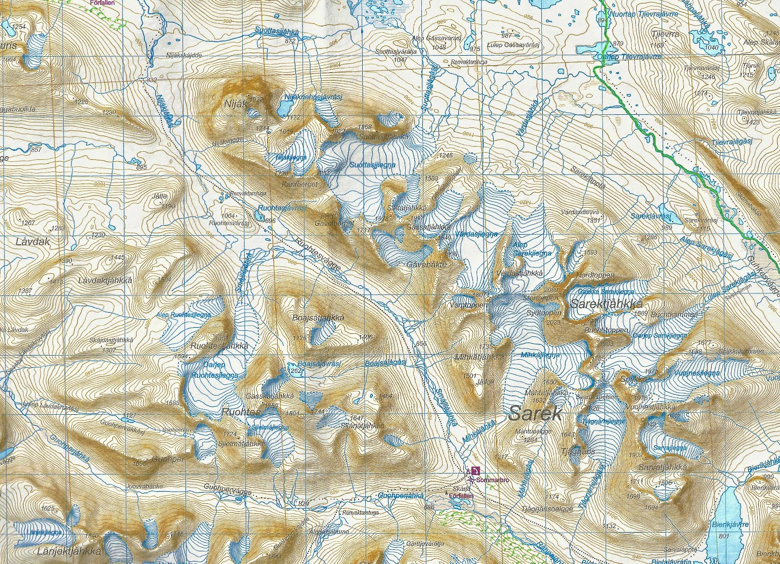 Planning For A Trek In Sarek National Park Route Travel And - Sweden map trekking