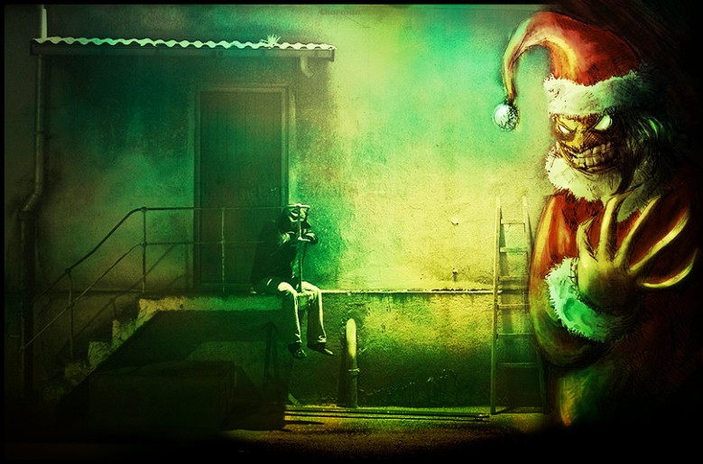 The_Evil_Santa_Claus_by_Lipsi